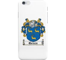 Green Family Crest iPhone Case/Skin