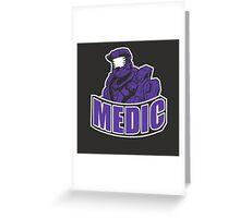 medic design- red vs blue Greeting Card