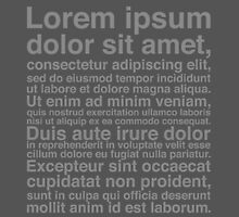 Lorem Ipsum - Grey We Have This Dance? by typehype