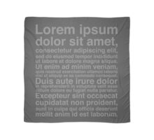 Lorem Ipsum - Grey We Have This Dance? Scarf