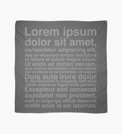 Lorem Ipsum - Grey We Have This Dance? Scarf