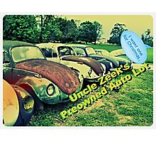 """Uncle Zeek's Preowned Auto Lot""... prints and products Photographic Print"