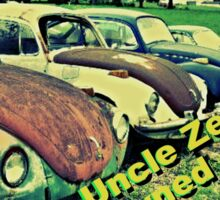 """Uncle Zeek's Preowned Auto Lot""... prints and products Sticker"