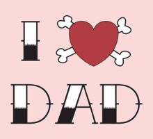 I (Love) Heart Dad Tattoo Kids Tee