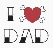 I (Love) Heart Dad Tattoo Kids Clothes