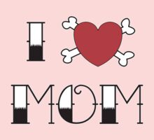 I (Love) Heart Mom Tattoo Baby Tee