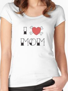 I (Love) Heart Mom Tattoo Women's Fitted Scoop T-Shirt