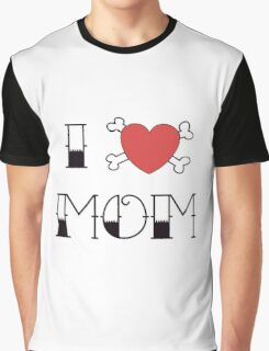 I (Love) Heart Mom Tattoo Graphic T-Shirt