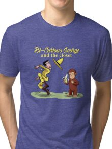 Kids TV show parodies - #1. Bi-Curious George Tri-blend T-Shirt