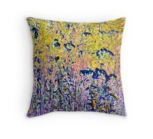 field of color Throw Pillow