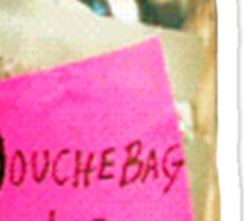 Douchebag Jar New Girl Sticker