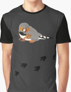 Dino Birds - Zebra Finch Graphic T-Shirt
