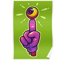Eye Finger Poster