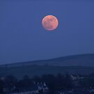 Pink Moon Over Derry - Ireland by mikequigley