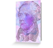 Hamilton Letters - Violet Greeting Card