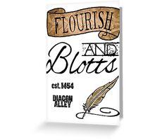 Flourish & Blotts. Greeting Card