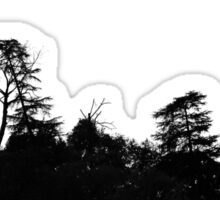 Ridge line silhouette  Sticker