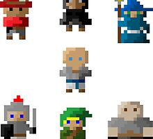 RPG Characters 8-Bit by DeanDavido