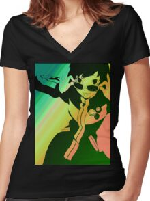 Persona 4 Chie Women's Fitted V-Neck T-Shirt