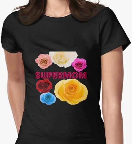 Supermom. Womens Fitted T-Shirt