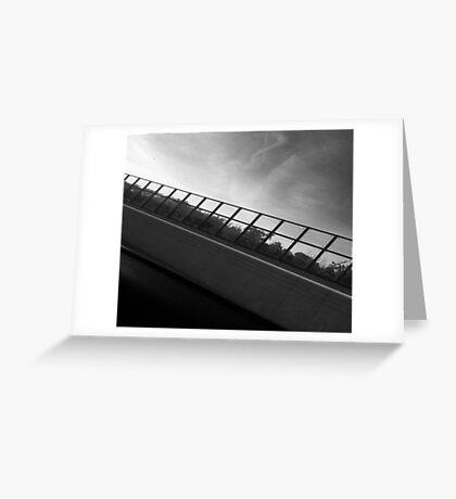 Grey Scale Bridge  Greeting Card