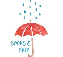 Books & Rain (Red/Blue) by bboutique