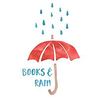 Books & Rain (Red/Blue) Photographic Print