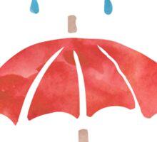 Books & Rain (Red/Blue) Sticker