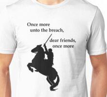 Shakespeare - Henry V - once more - light Unisex T-Shirt