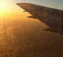 Airplane view Sticker