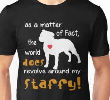 Staffy - As a matter of Fact... Unisex T-Shirt