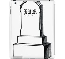 Lil Ugly Mane - RIP Human Rap Game (Higher Res Black) iPad Case/Skin