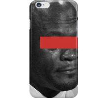 MJ Crying Meme - Red Eyes iPhone Case/Skin