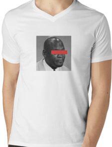 MJ Crying Meme - Red Eyes Mens V-Neck T-Shirt