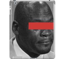 MJ Crying Meme - Red Eyes iPad Case/Skin