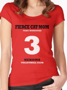 Fierce Cat Mom - Yaku Morisuke Women's Fitted Scoop T-Shirt