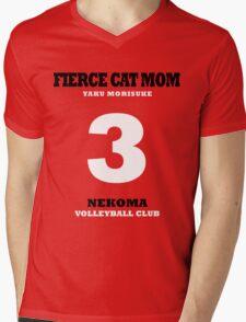 Fierce Cat Mom - Yaku Morisuke Mens V-Neck T-Shirt
