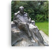 Churchill at Chartwell Canvas Print
