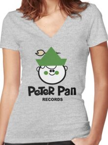 Peter Pan Records - Version 1 Women's Fitted V-Neck T-Shirt