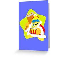 Super Smash Bros King Dedede Greeting Card