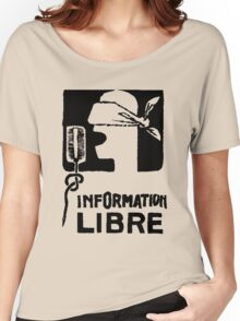INFORMATION LIBRE Women's Relaxed Fit T-Shirt