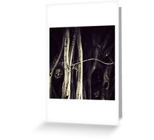I see faces Greeting Card