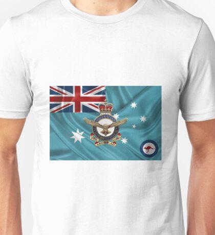 Royal Australian Air Force Badge over RAAF  Ensign Unisex T-Shirt