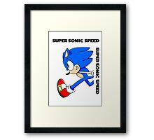 Super Sonic Speed Framed Print