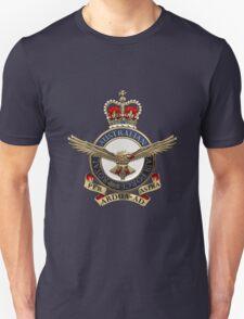 Royal Australian Air Force - RAAF Badge over Blue Velvet Unisex T-Shirt