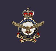 Royal Australian Air Force - RAAF Badge over Blue Velvet Unisex T-Shirt