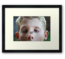 On the nose Framed Print