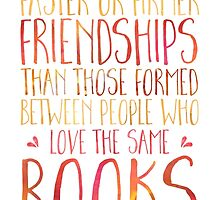 Bookish Friendship (Red) by bboutique