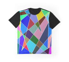 Rainbow Explosion Blue Graphic T-Shirt