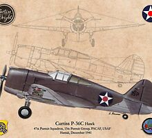 Curtiss P- 36C Hawk by A. Hermann